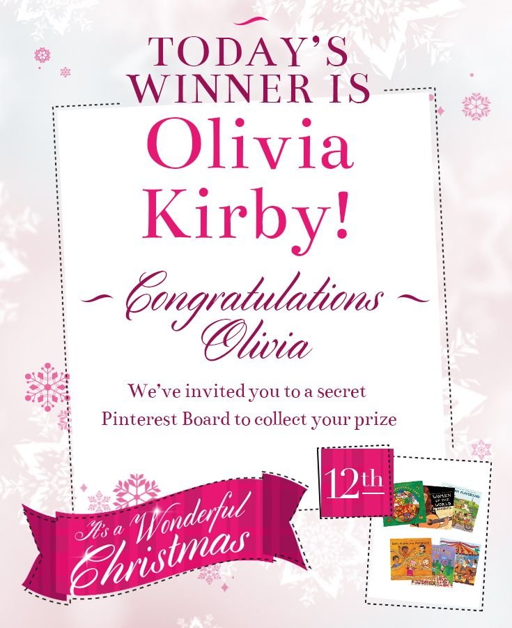 Congratulations Olivia Kirby for winning 12th December's prize - a bundle of wonderful Putumayo CDs. 8 days left to play - good luck everyone!