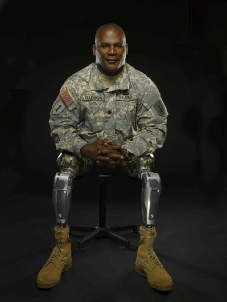 COLONEL GREGORY D. GADSON, Director, U.S. Army Wounded Warrior Program.  More than 20 years service; served in every major conflict of the last two decades.  COL Gadson was severely injured by an IED, lost both legs above the knee, and severe damage to the right arm.  This is not a sad story.  It is a story of a hero and a soldier.  DONATE TO WOUNDED WARRIORS!