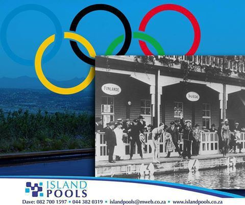"""#ThrowbackThursday: In 1912, the Stockholm Olympics had 7 swimming events for men and, for the first time, two events for women. The women swam a 100m freestyle and a 4 x 100m freestyle relay. This was the first Olympic games for Hall of Fame Swimmer """"Duke"""" Kahanamoku; he won the 100m freestyle. #IslandPools"""