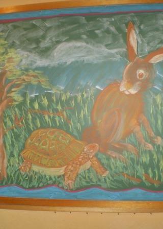 Chalkboard drawings at Orana Steiner School in Canberra, Australia