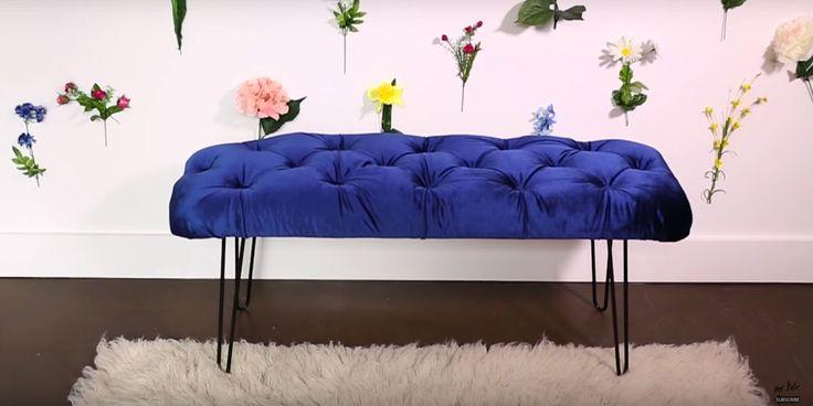 Dit wil je! Maak nu je eigen blauwe velvet zitbankje  - ELLE.nl
