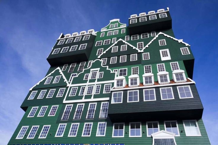 stacked house hotel in amsterdam