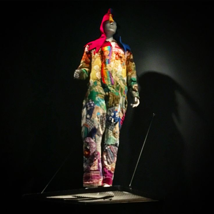 "The original #onesie? Wavy Gravy's "" #Rainbow Jumpsuit"" - No wonder #sf has an affinity for them and why everyone looks at me like I should be committed. I try to explain to them ""It's no big deal. Everyone in #sanfrancisco one - and even wears em to bars"". #summeroflove"