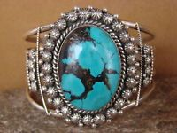 Native American Indian Jewelry Sterling Silver Handmade Turquoise Bracelet