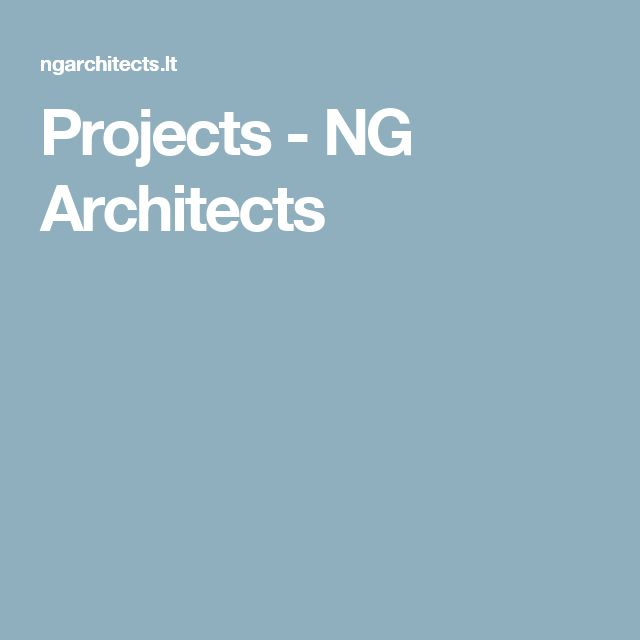 Projects - NG Architects