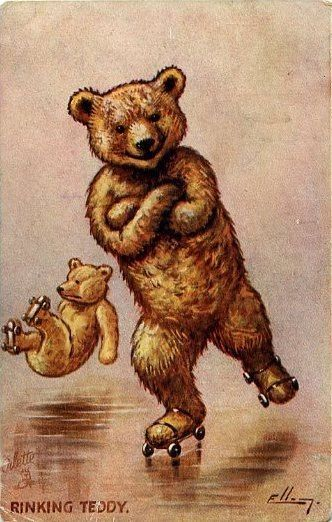 Республики, старые открытки с мишками