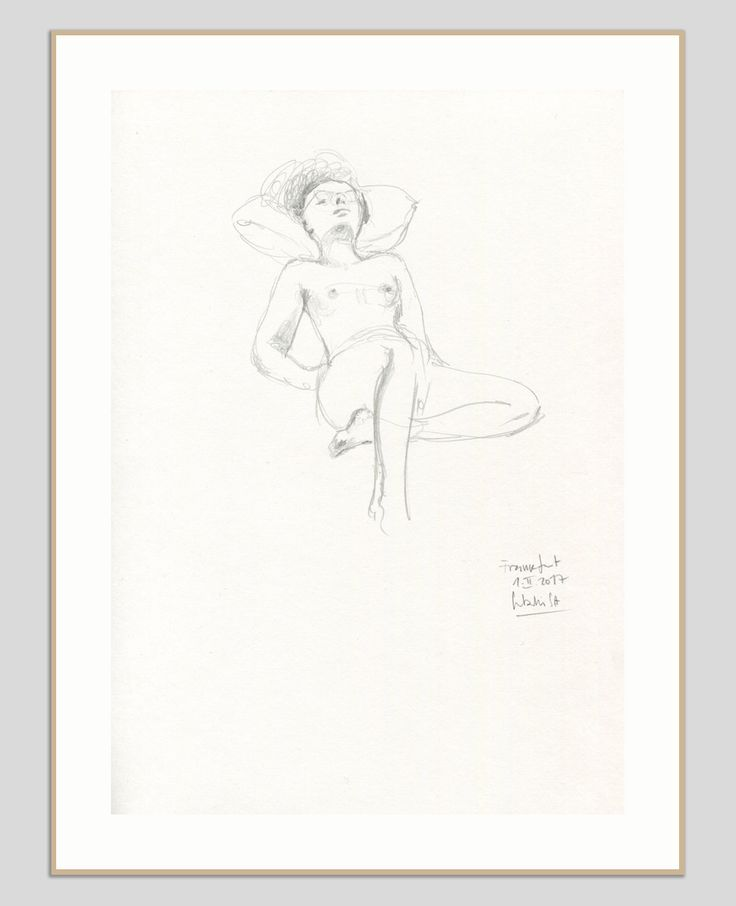 Nude drawing - ORIGINAL female nude, pencil drawing - pencil sketch of woman nude - figure studies by Catalina by CATILUSTRE on Etsy