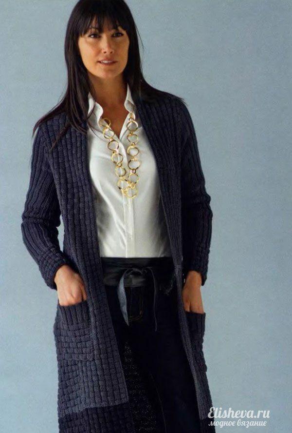 Кардиган для бизнес-леди вязаный спицами. Обсуждение на LiveInternet - Российский Сервис Онлайн-Дневников