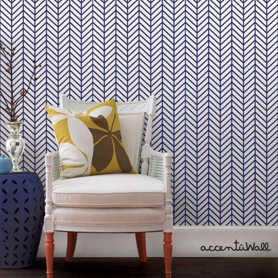 Herringbone Line Navy Peel Stick Fabric Wallpaper Etsy Boys Bedroom Wallpaper Herringbone Wallpaper Fabric Wallpaper