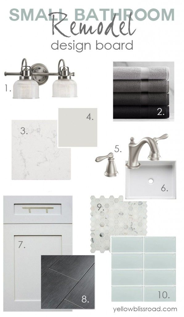 Small bathrooms can be tricky, so I decided to go with a calming gray, white and soft pale green in my tiny bathrooms. Today I'm sharing my plans with you!
