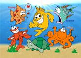 Puzzles : Sea Creatures Puzzle with all the feelings, happy, sad etc etc