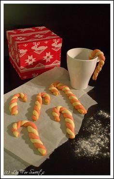 {Weihnachtsbäckerei} Candy Cane - Cookies - Rezept auch für den Thermomix
