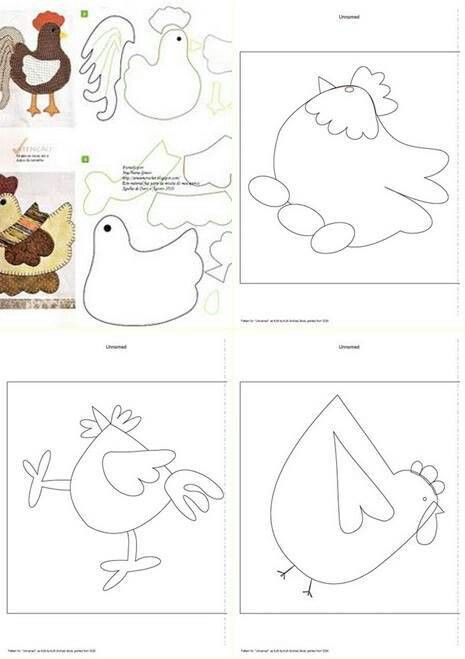 Chicken quilting blocks-really cute ideas can come from these for quiet books!