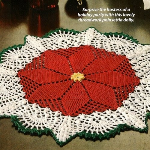 Crochet Poinsettia Table Cloth or Rug   crochet projects =]   Pintere ...