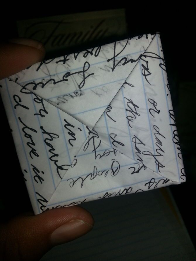 How to Fold Paper Into a Secret Note Square. wikiHow - The Easy Way