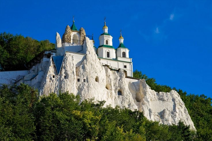 Ukraine. The Sviatohirsk Lavra or the Sviatohirsk Cave Monastery is a historic Orthodox Christian monastery near the city of Sviatohirsk in Donetsk Oblast of eastern Ukraine.