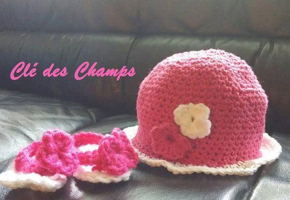 chapeau soleil pour bébé par Cledchamps sur Etsy