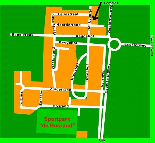 Espel plattegrond, met basisschool
