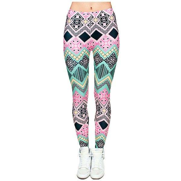 JINKAIJIA Women's Fashion Designs Digital 3D Printed Leggings ❤ liked on Polyvore featuring pants, leggings, legging pants, wide-leg pants, wide-waistband leggings and wide-leg trousers