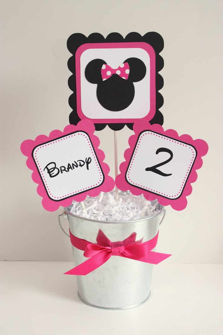 free minnie mouse printables   Minnie Mouse Party Line: Hot Pink & Black