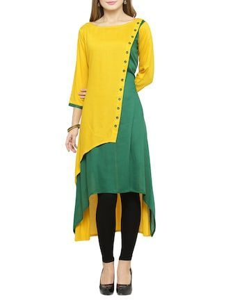 0f8bc2701 Buy Jompers mustard rayon Online