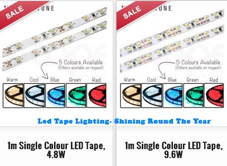 The holiday season is here and it's time to decorate the house and what better choice than led tape lighting. Available in various colors, everyone can have one of their choices.