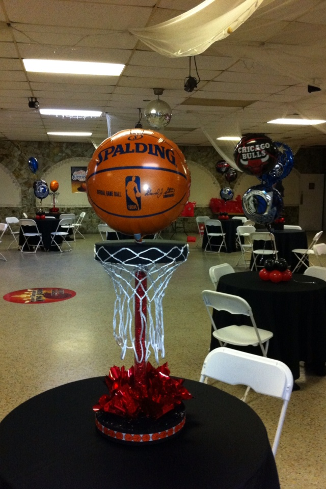 NBA Party | Magical Designs | Pinterest | Party centerpieces, Parties and NBA
