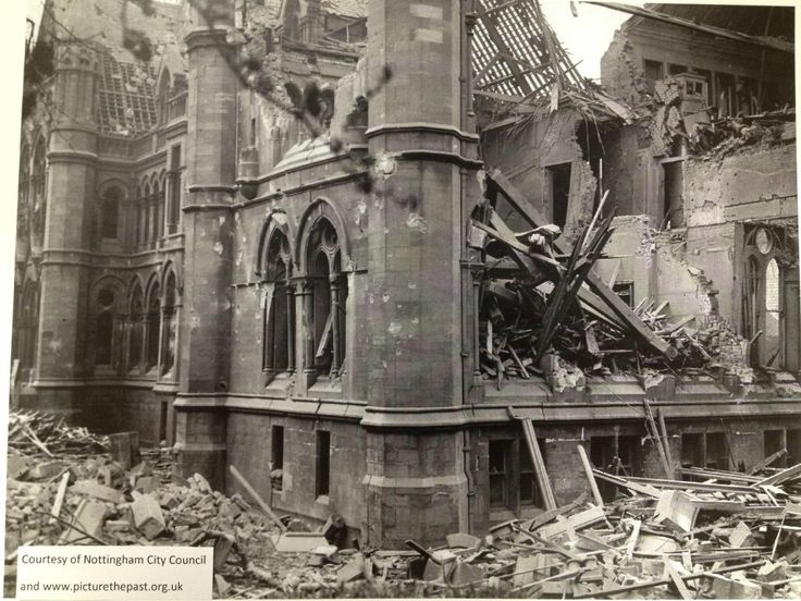 the arkwright building in 1941 when part of it was bombed