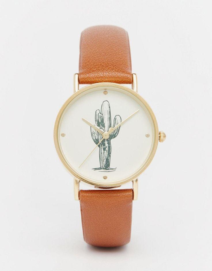 Image 1 - ASOS - Montre avec cadran motif cactus