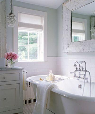 shabby chic bathroom by leslievance01, via Flickr