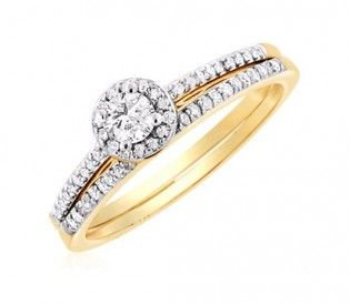 Diamond Engagement Ring in 14K White/Yellow Gold - Engagement rings or  wedding rings with