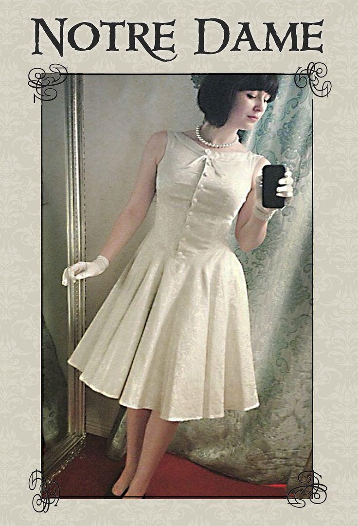 Notre Dame Brocade Dress (Mint)
