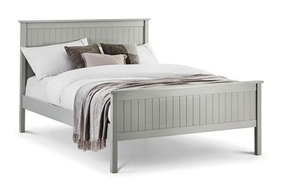 Happy Beds Maine Dove Grey Wooden Bed Frame