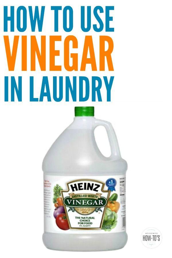 Save Money By Using Vinegar In Your Laundry In 2020 Vinegar In