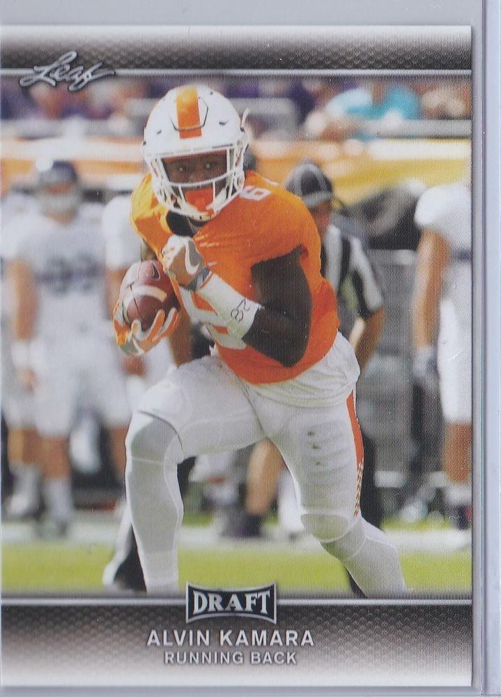 2017 Leaf Draft Alvin Kamara Football Sports card No 1 New Orleans Saints Rookie #NewOrleansSaints