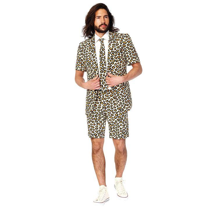 Men's OppoSuits Slim-Fit Jaguar Suit & Tie Set, Size: 42 - regular, Dark Beige
