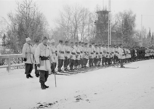 Danish volunteers in Oulu, Finland during the Winter War.