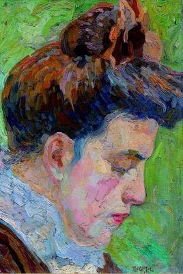 Leo Gestel (1881-1941): Portret van Anna, zuster van Leo Gestel
