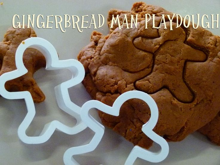 Gingerbread Man Activities - playdough, poem and paper gingerbread man.