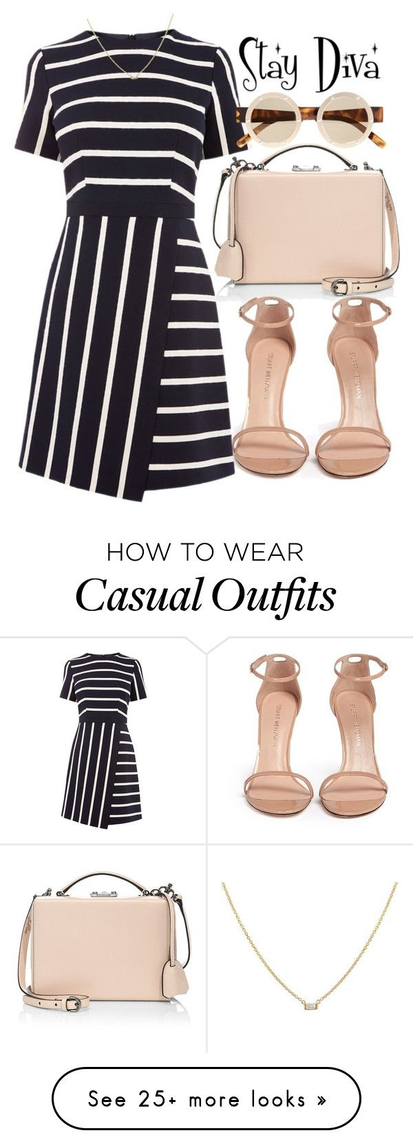 """Casual"" by staydiva on Polyvore featuring Mark Cross, Stuart Weitzman and Le Specs"