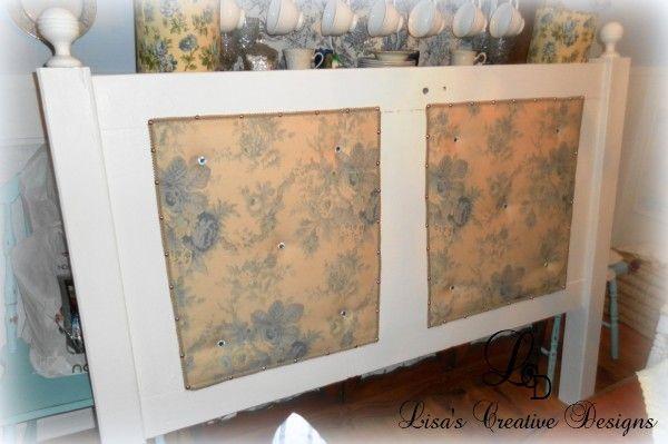 vintage door bed 13 600x399 Creating An Upholstered Vintage Door Headboard