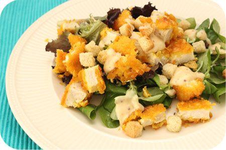 Salade met Krokante Kip op Brutsellog