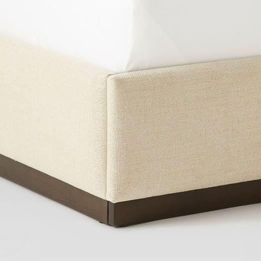 Plinth Upholstered Bed Frame - Oatmeal #westelm