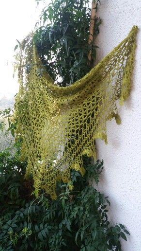 Kefhia in seta tussah tinta con Colori Naturali. ...realizzato da Lamanu