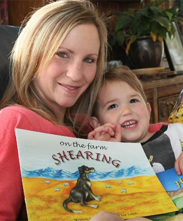 Southland author Lee Lamb (love the name!) illustrates and publishes books about farm life in New Zealand.