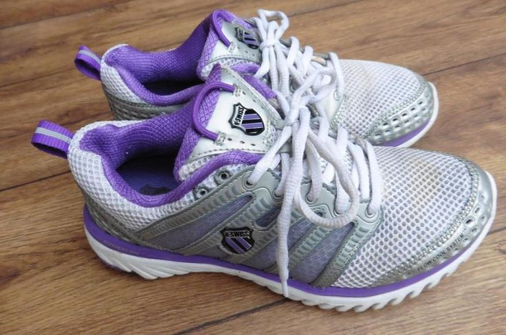 SIZE UK 5 K-SWISS BLADE LIGHT SILVER PURPLE WOMENS RUNNING SHOES, TRAINERS.