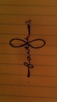 Infinity, faith, and cross tattoo....Mother Daugther tattoo this is gonna happen :) On my ankle <3