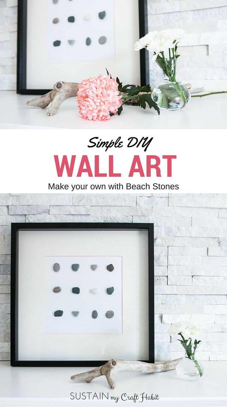 689 best beach crafts diy ideas images on pinterest beach diy wall art beach stone home decor