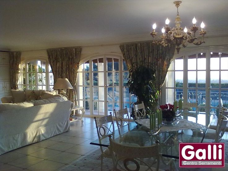 #Finestre in #PVC ad Arco #Villa Privata #Nizza #Nice | www.gallisrl.eu