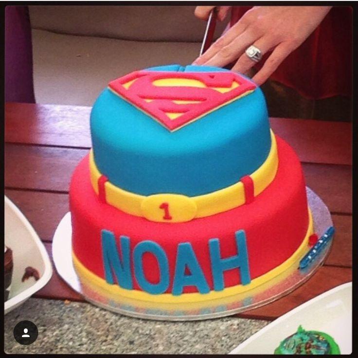 Superman inspired 1st birthday cake.